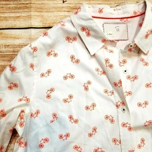 Anthropologie Bicycle Button up blouse. Size US 12